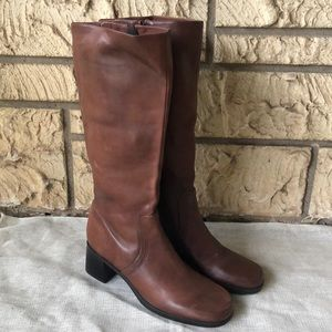 Naturalizer Brown Leather High Boots Size 7 1/2